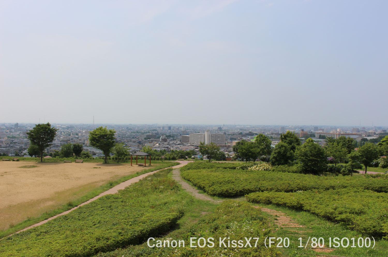 金沢市一望 大乗寺公園 Canon EOSkissX7