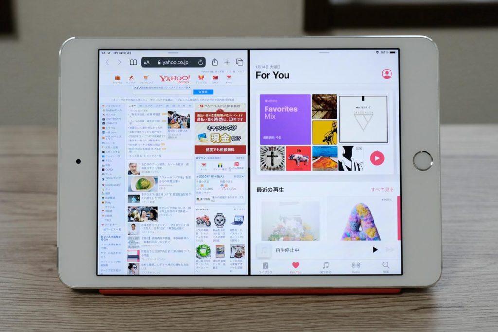 iPad mini 4のSplit View