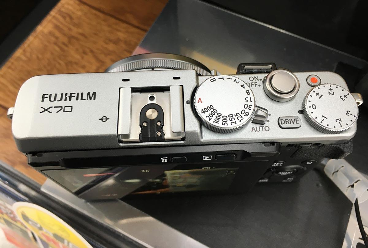FUJIFILM X70の操作