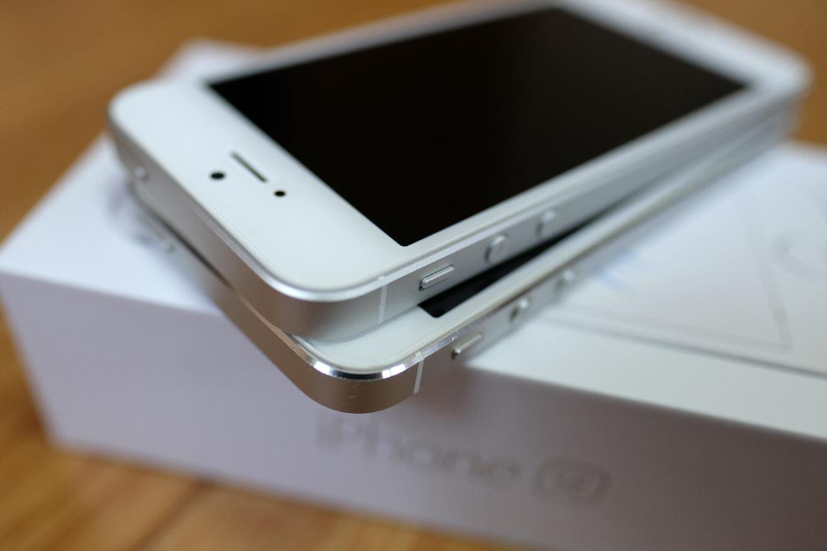 iPhone 5s・iPhone SE エッジ処理の違い