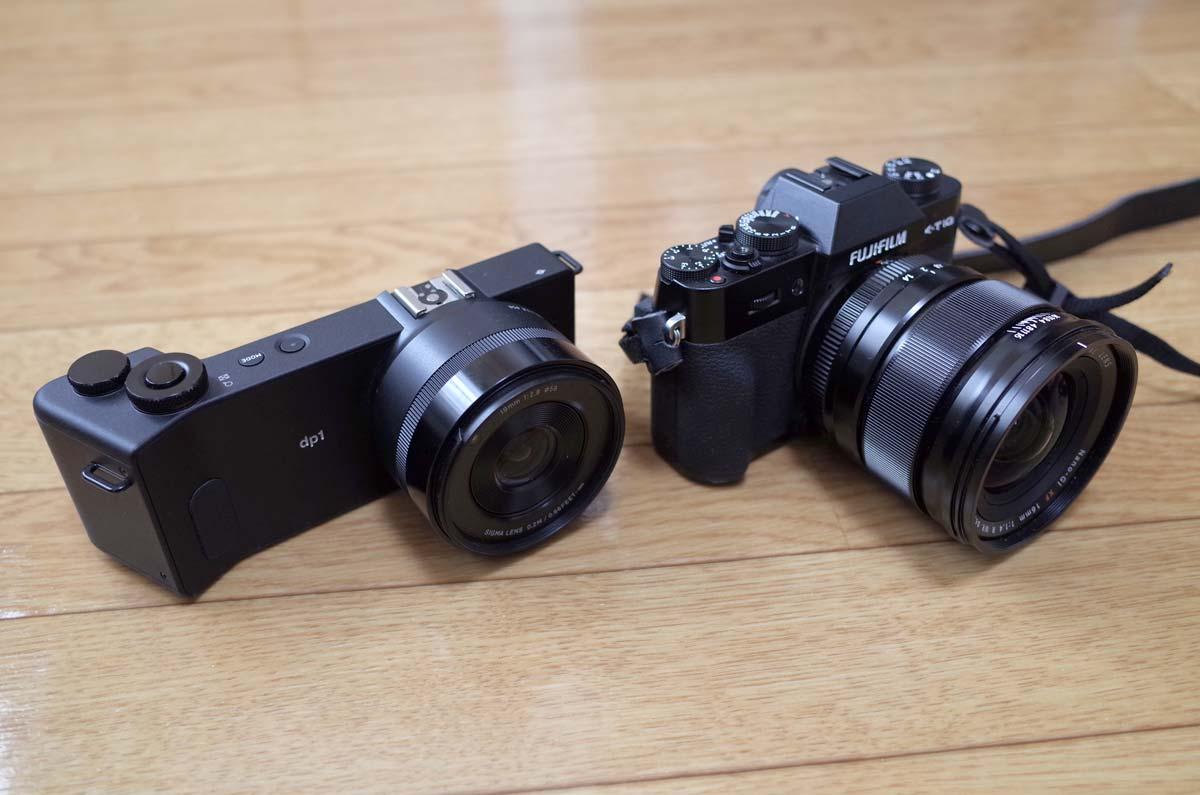 FUJIFILM X-T10とSIGMA dp1 Quattro