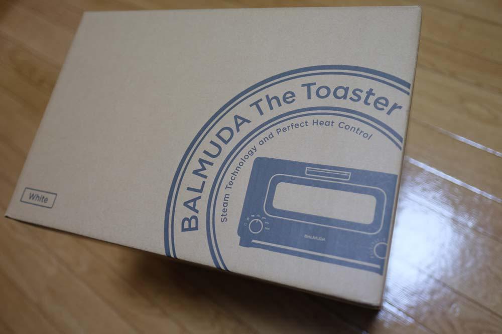 バルミューダトーストのパッケージ