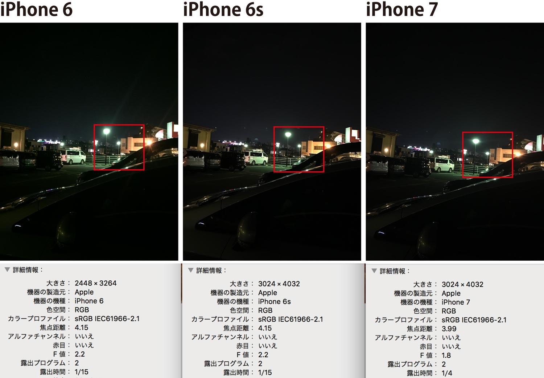 iPhone7 カメラの撮影比較 夜間撮影3