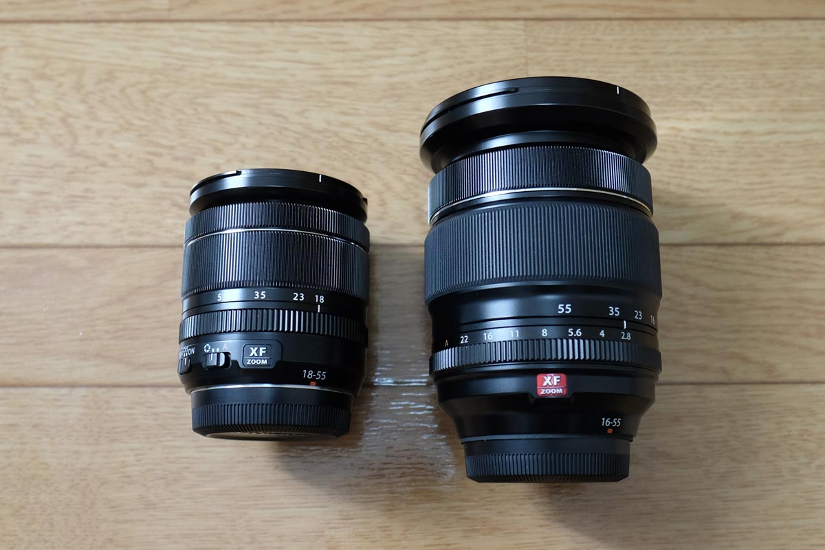 XF18-55とXF16-55 外観比較2