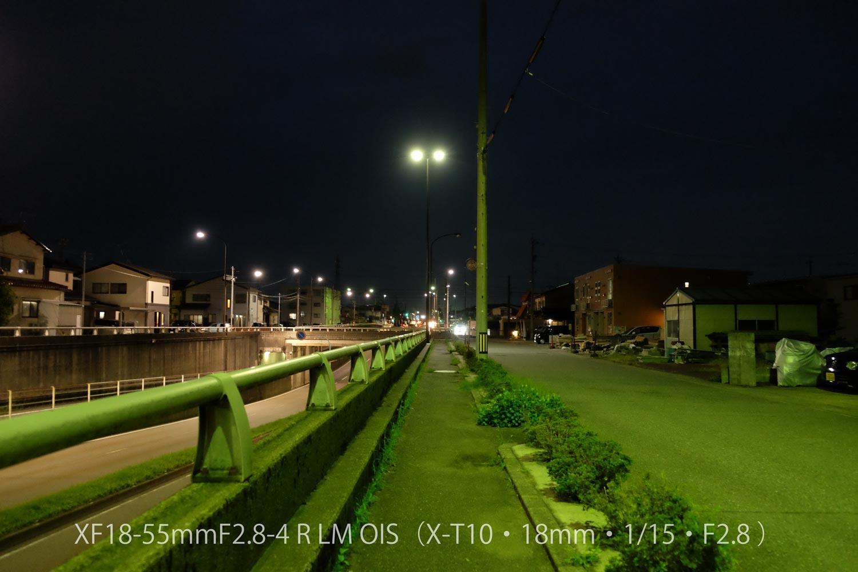 XF18-55 X-T10 夜道