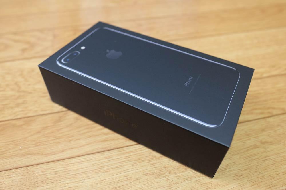 iPhone7 Plus ジェットブラックの箱