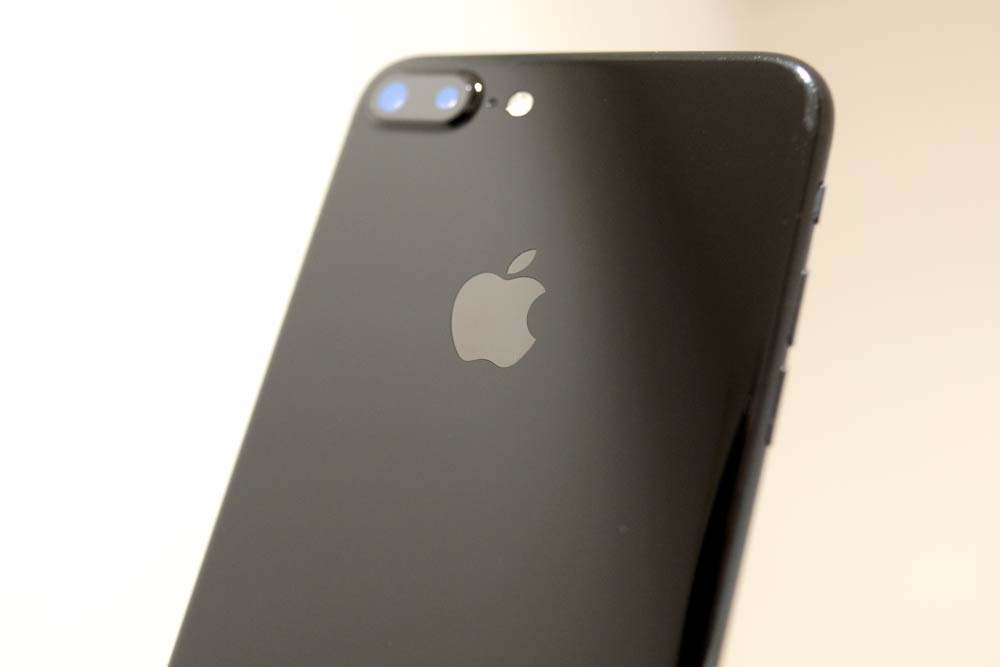 iPhone7 Plus 指紋拭き取り後