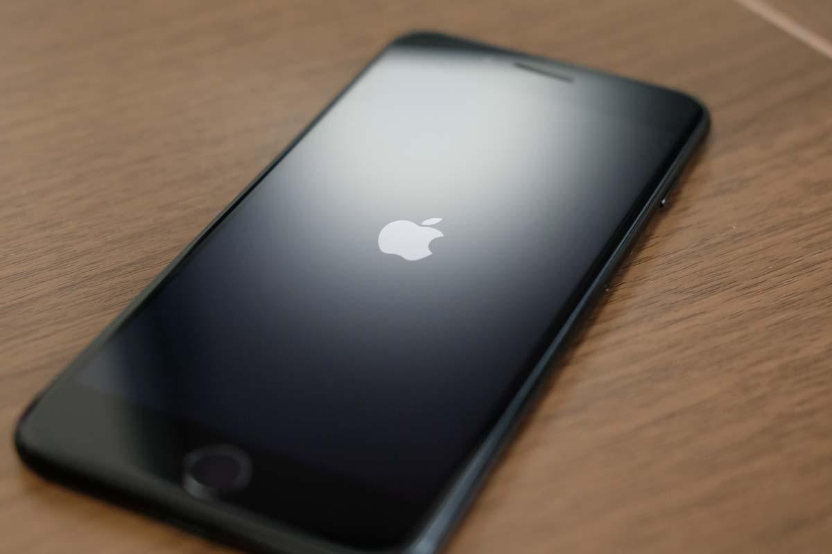 iPhone7 リンゴマーク表示