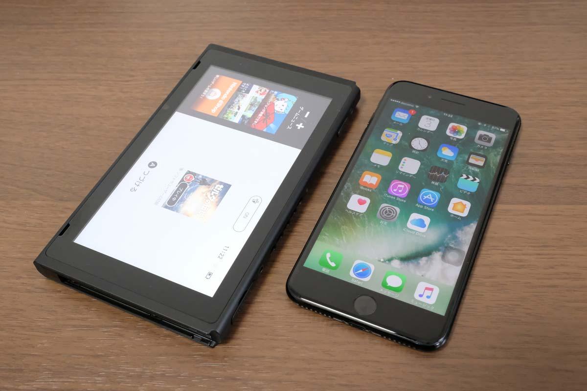 ニンテンドースイッチとiPhone7 Plus