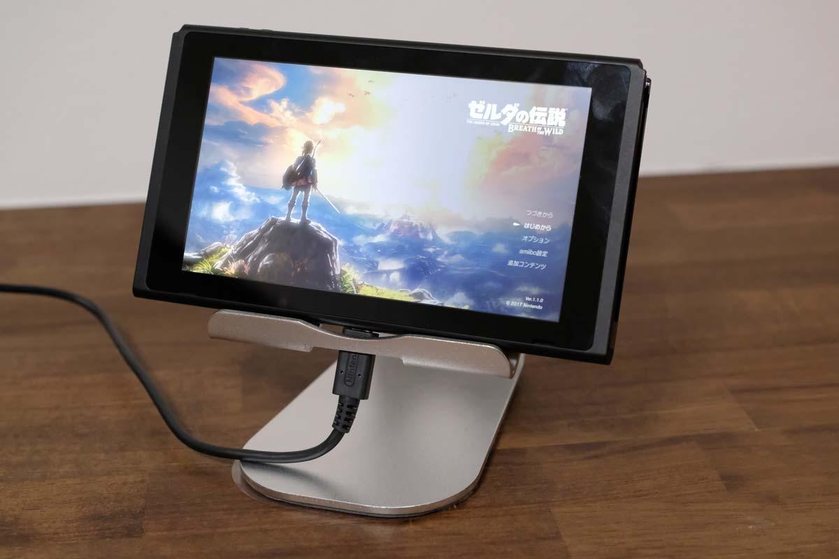 iPadスタンドにニンテンドースイッチを乗せる1