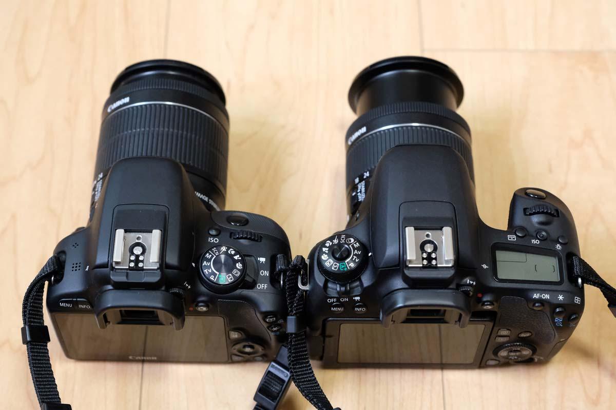 kiss X7と9000D 標準レンズ