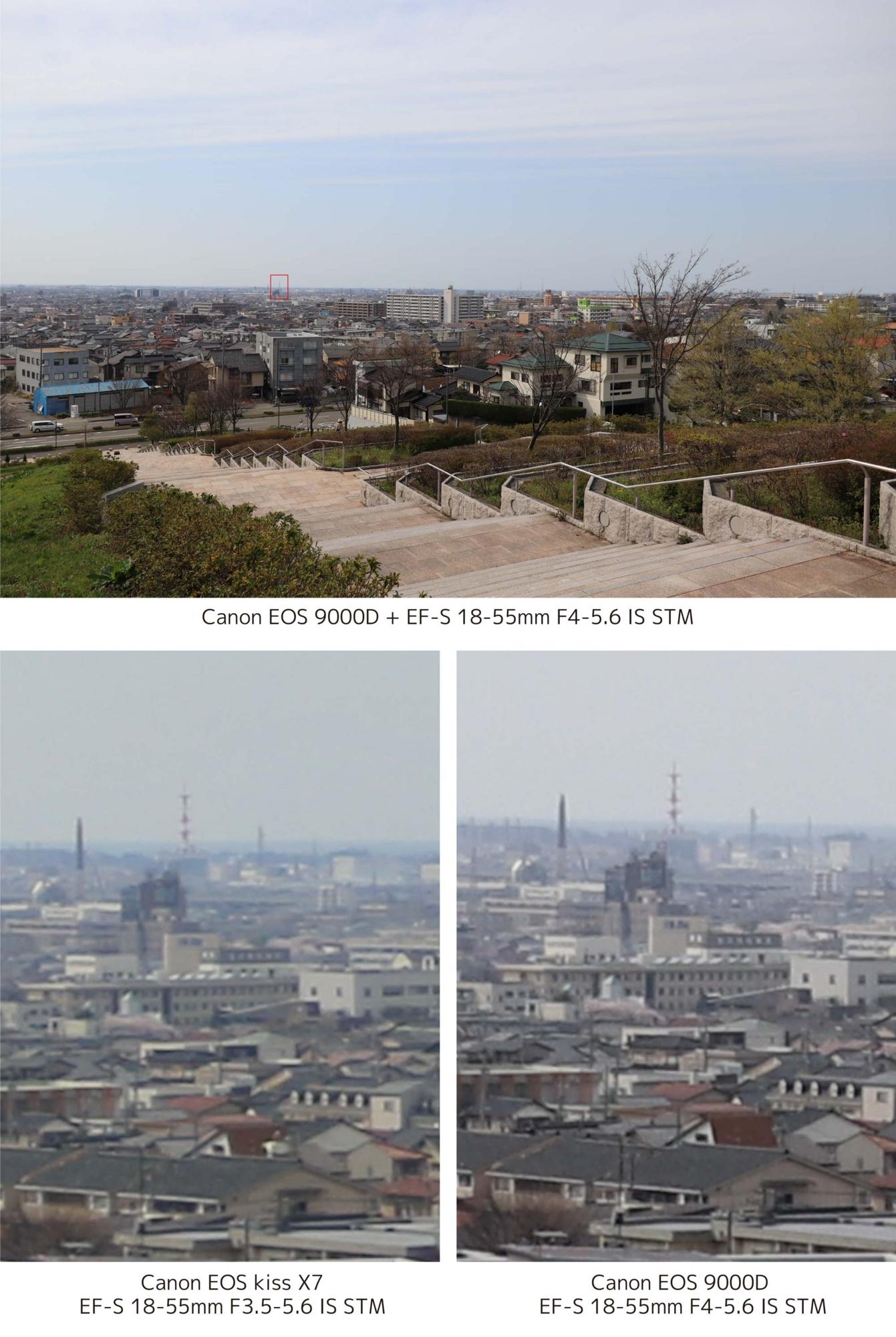 Canon EOS 9000DとEOS kiss X7 画質比較1