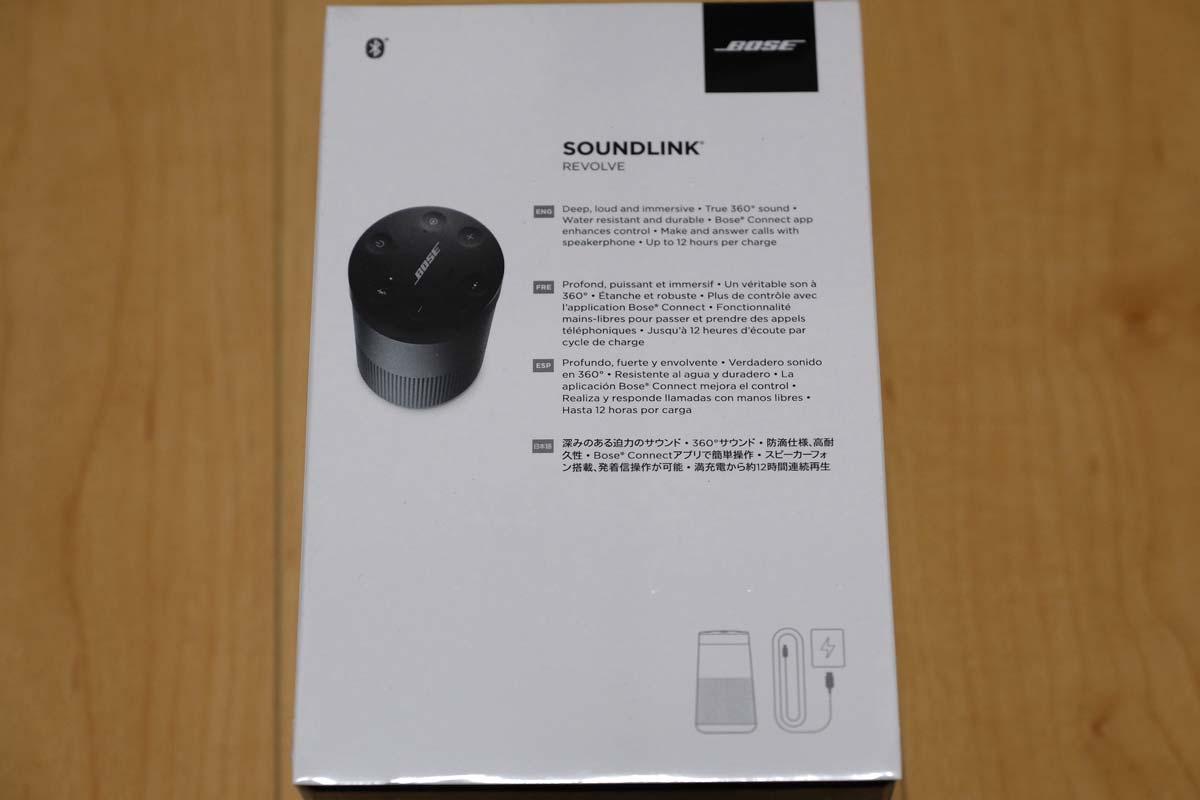 BOSE SoundLink Revolveの箱裏