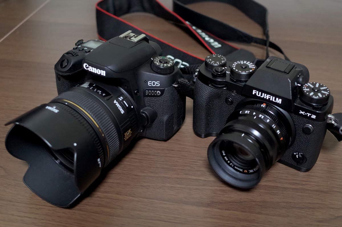 一眼レフカメラとミラーレス一眼カメラ