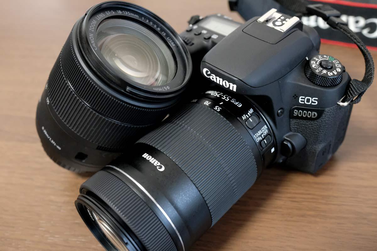EOS 9000DとEF-S55-250㎜