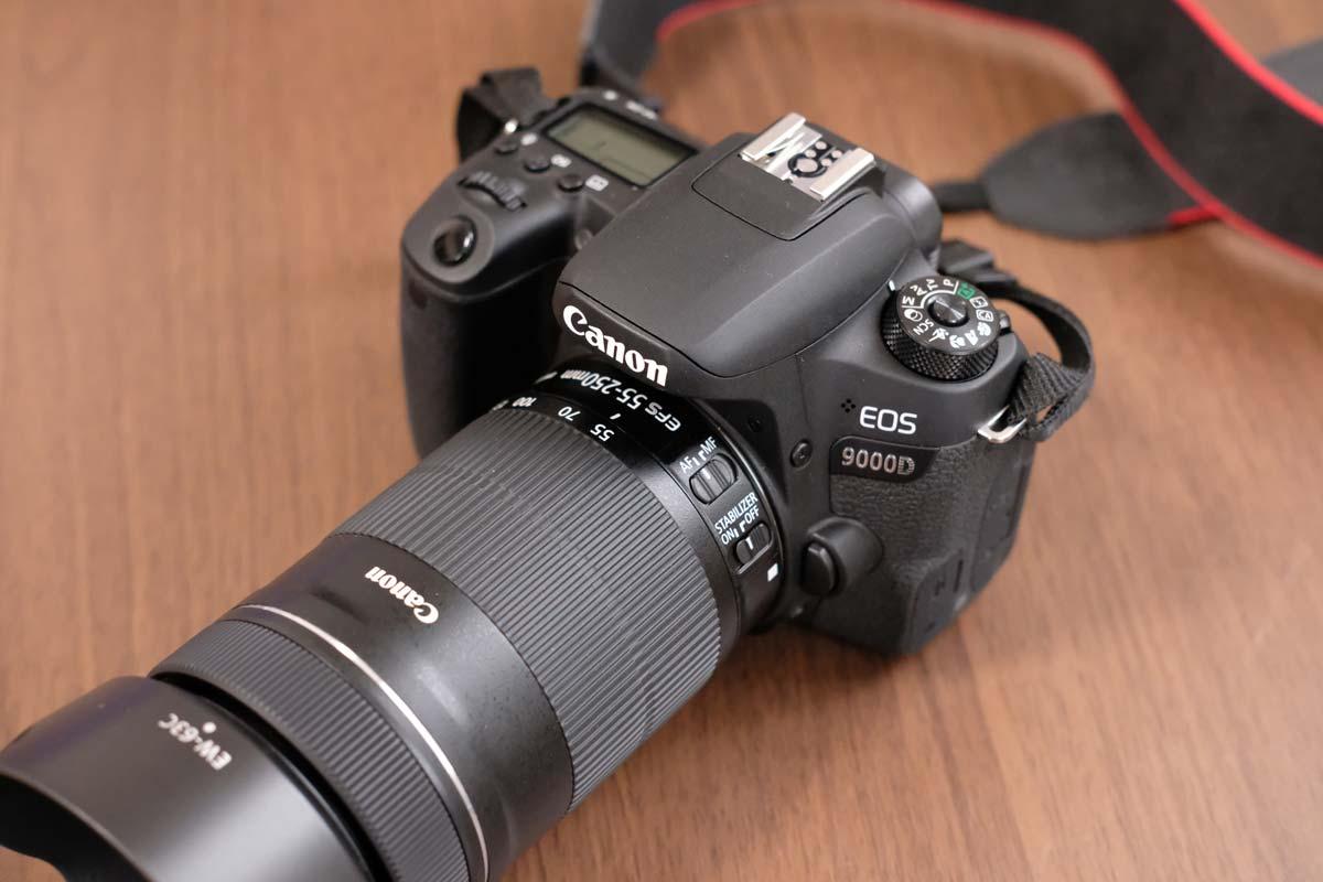 EOS 9000DとEF-S55-250mm