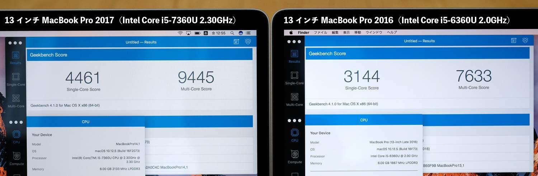 MacBook Pro 13インチ(2017)CPUの性能