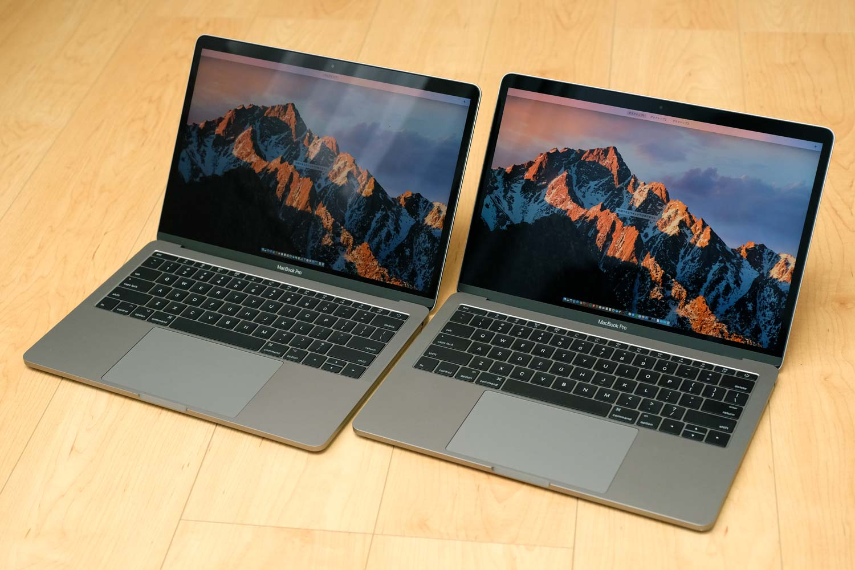 13インチMacBook Pro 2017 vs 13インチMacBook Pro 2016