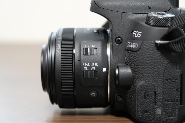 EOS 9000DとEF-S35mm F2.8 マクロ IS STM 操作パネル