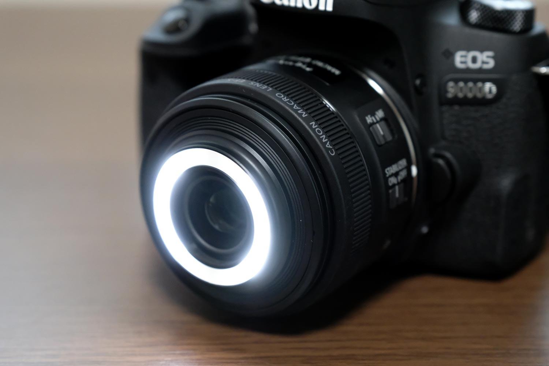 EF-S35mm F2.8 マクロ LED 全ライト(強)ON状態