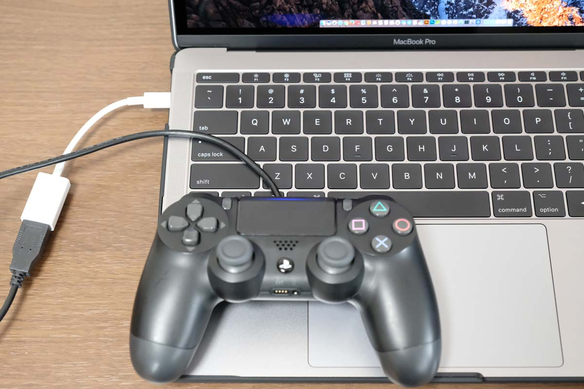 MacBook ProにDUAL SHOCK4を接続