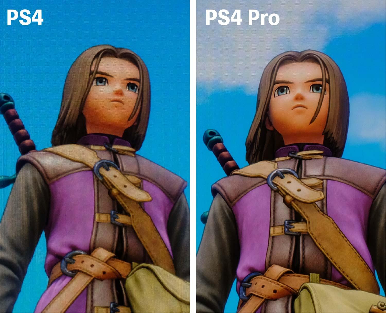 ドラクエ11 PS4 vs PS4 Pro 4K画質 主人公
