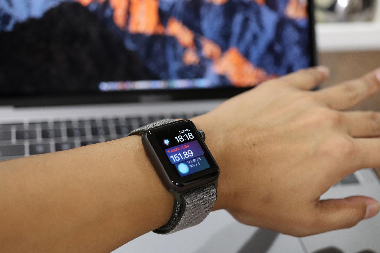 Apple Watch 3を腕に装着