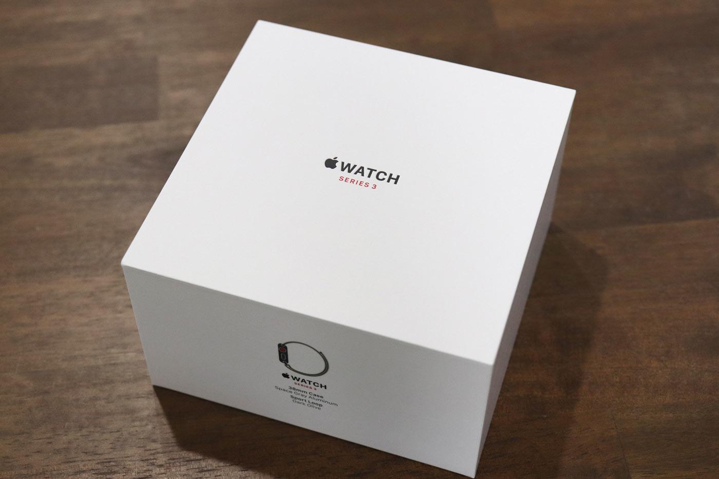 Apple Watch 3 スポーツループ 外箱パッケージ