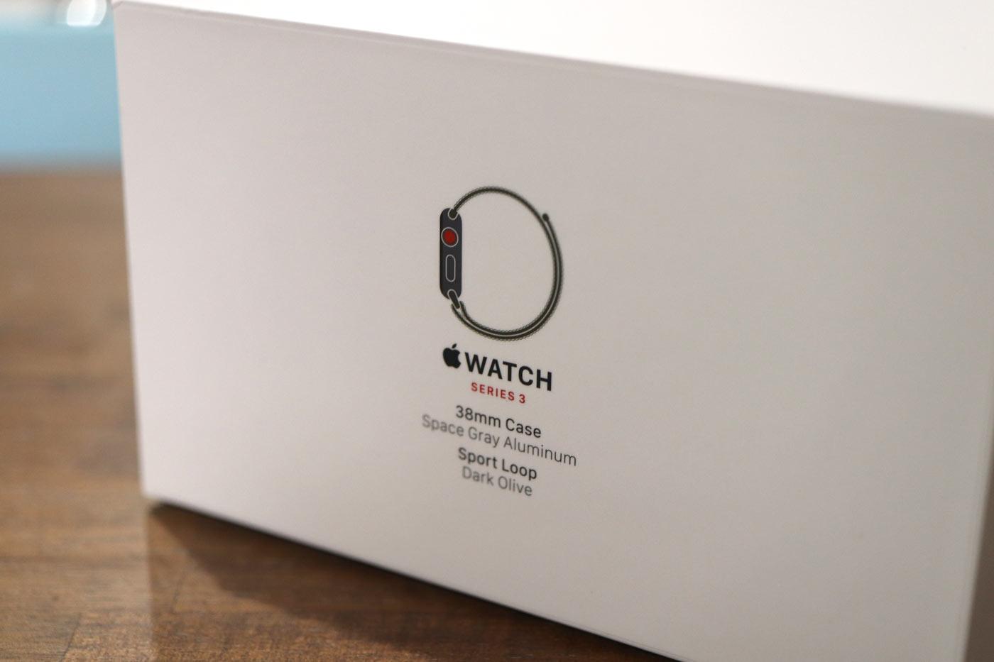 Apple Watch 3 パッケージ