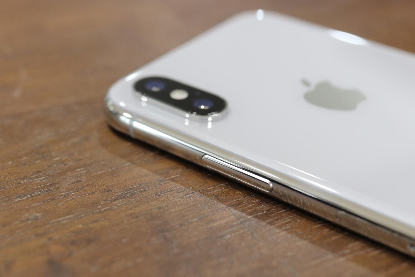 iPhoneX サイドボタン
