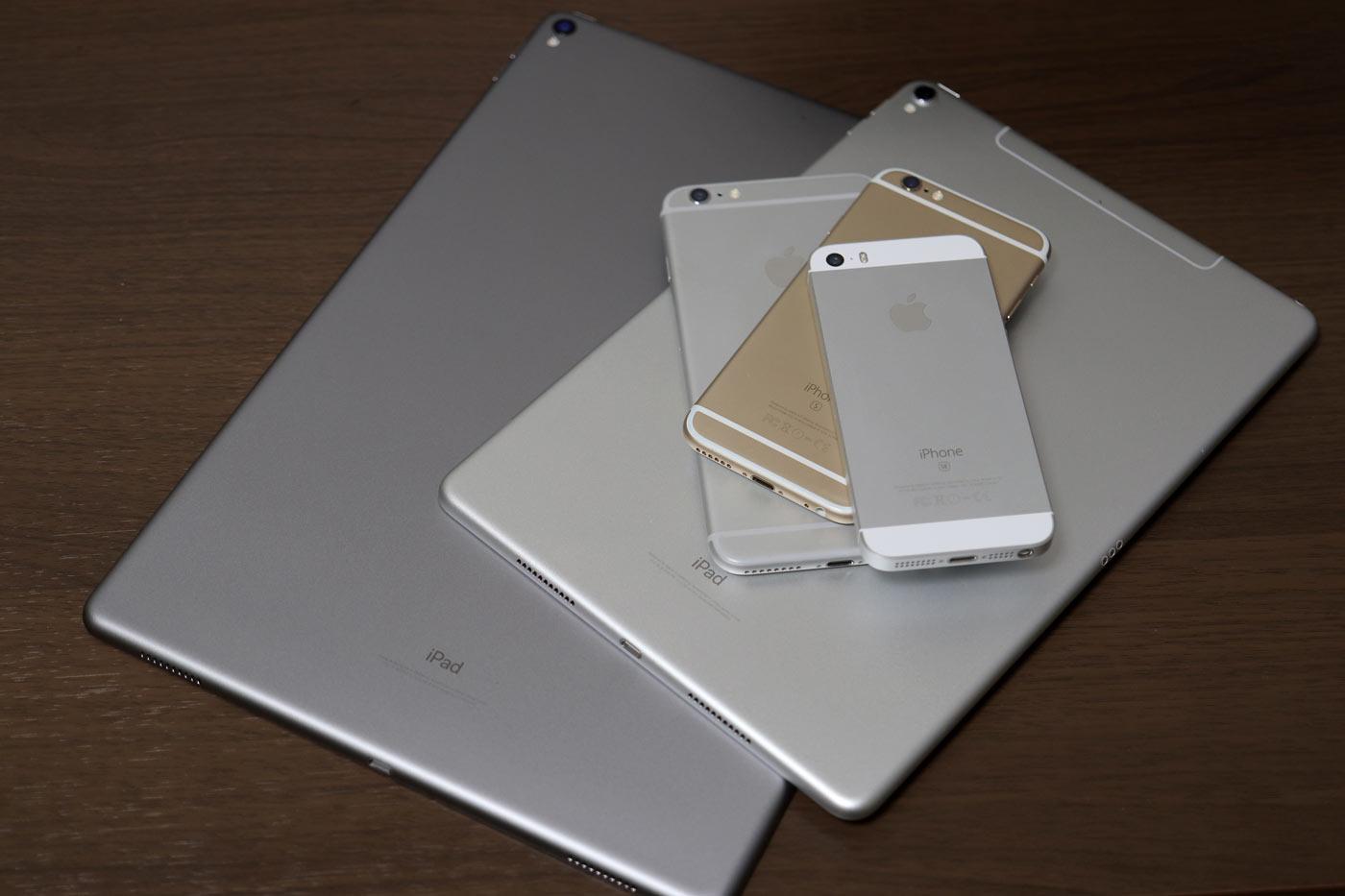 アルミ筐体のiPadとiPhone