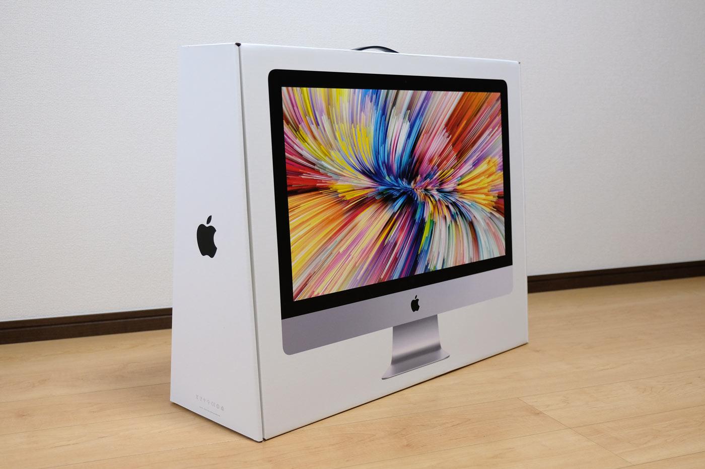 27インチiMac 5K パッケージ表面