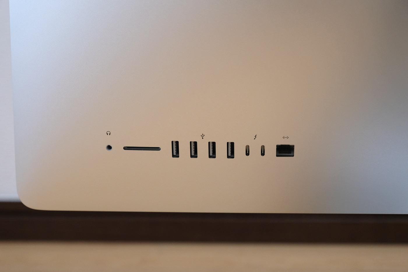 27インチiMac 5K 外観デザイン ポート