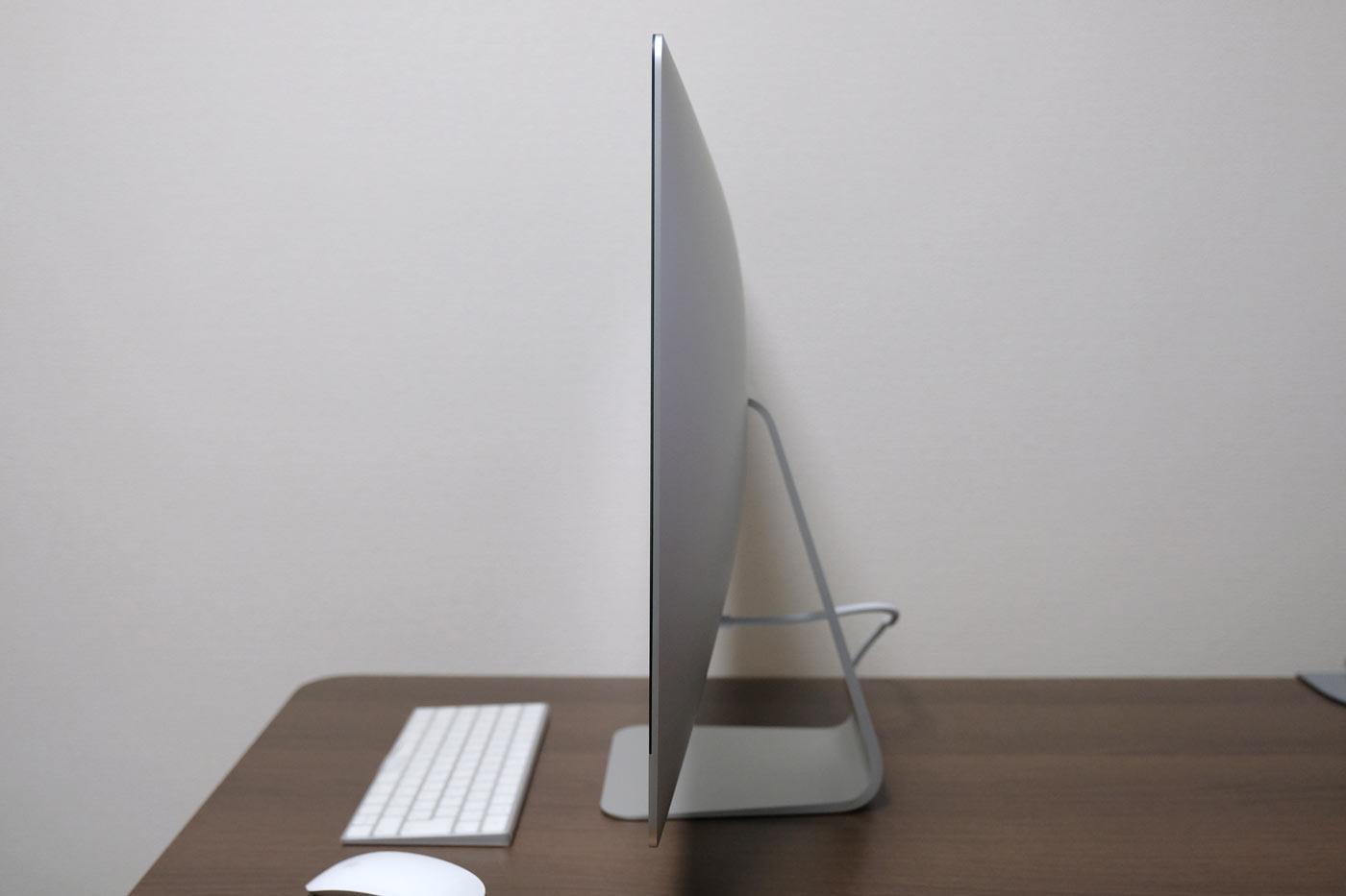 27インチiMac 5K 横から見たスタイル