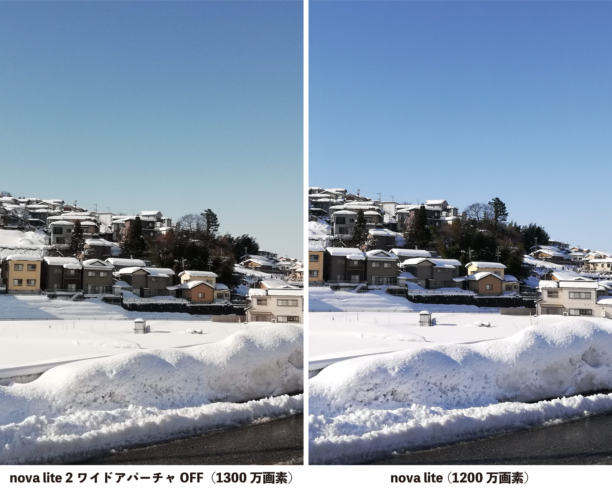 nova lite 2 vs nova lite カメラ画質比較