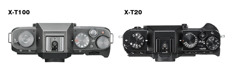 X-T100とX-T20の操作体系