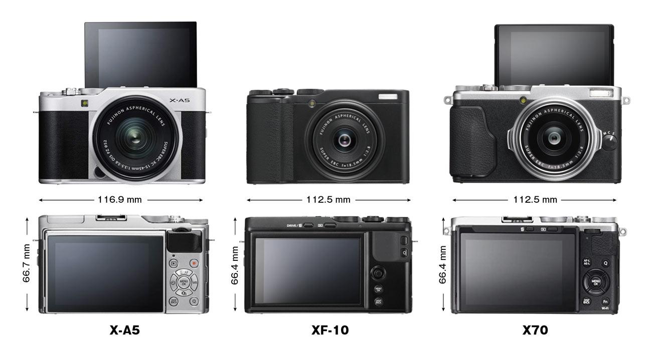 X-A5・XF10・X70 サイズの違い
