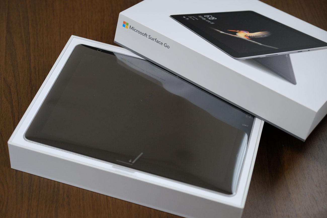 Surface Go 開封