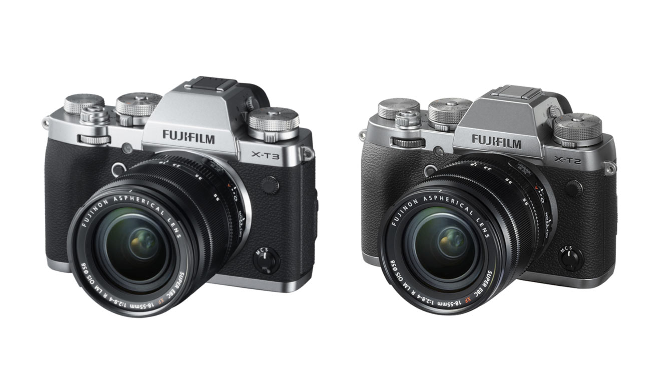 FUJIFILM X-T3 vs X-T2 デザイン比較