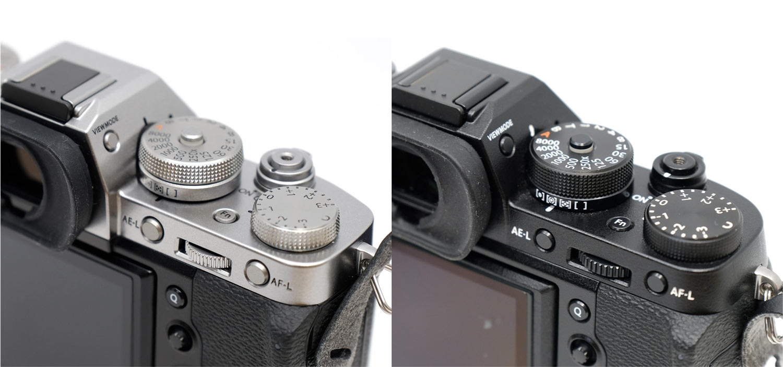 X-T3とX-T2の右側操作ダイヤル比較