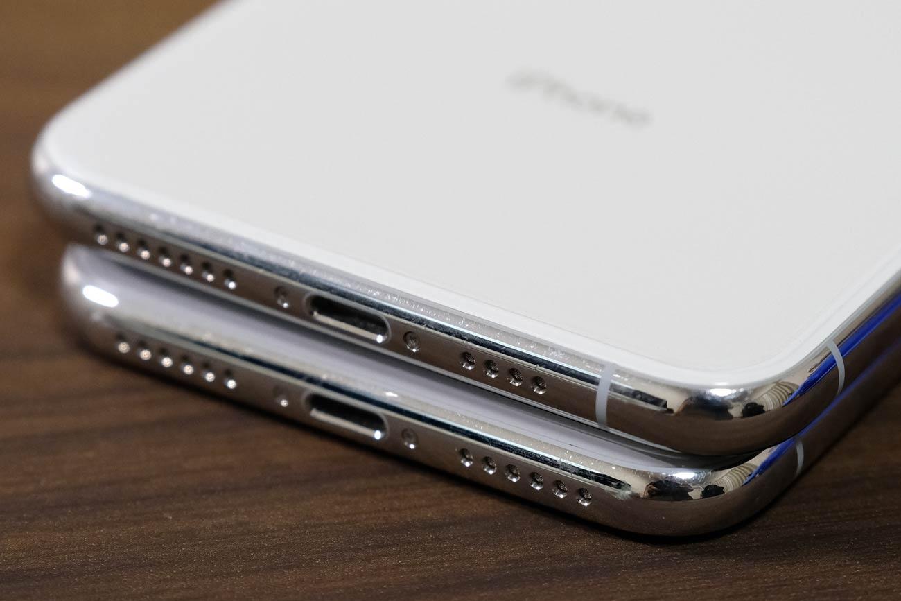 iPhone XとiPhone XS Max アンテナラインの違い