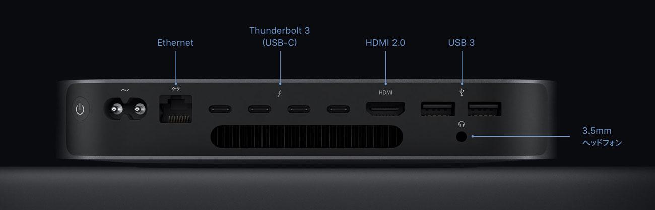 Mac mini 2018 外部ポート