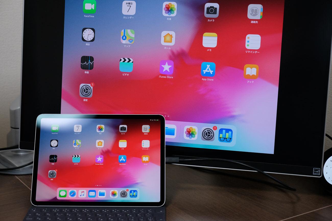 iPad Proを4Kモニターに出力する
