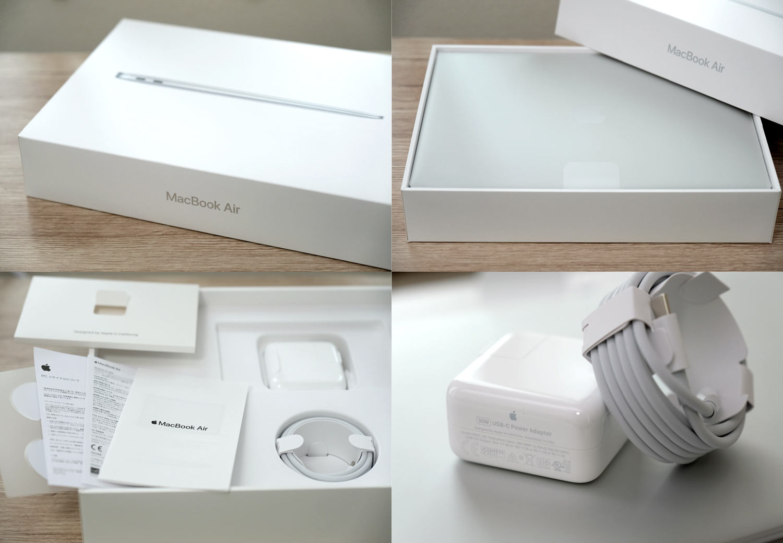 MacBook Air 13インチ パッケージと付属品