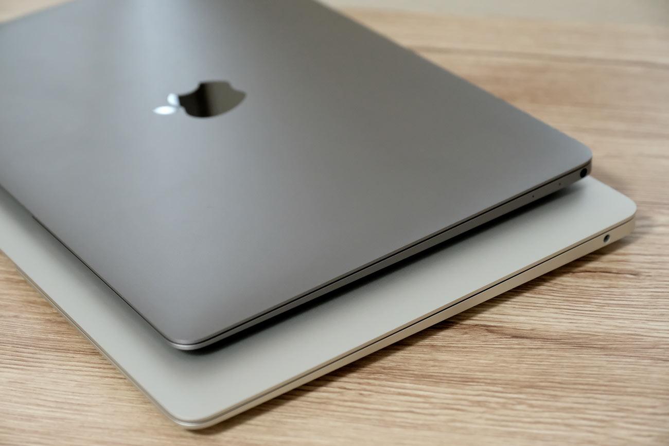 MacBook Air 13インチ vs MacBook 12インチ 外観比較2