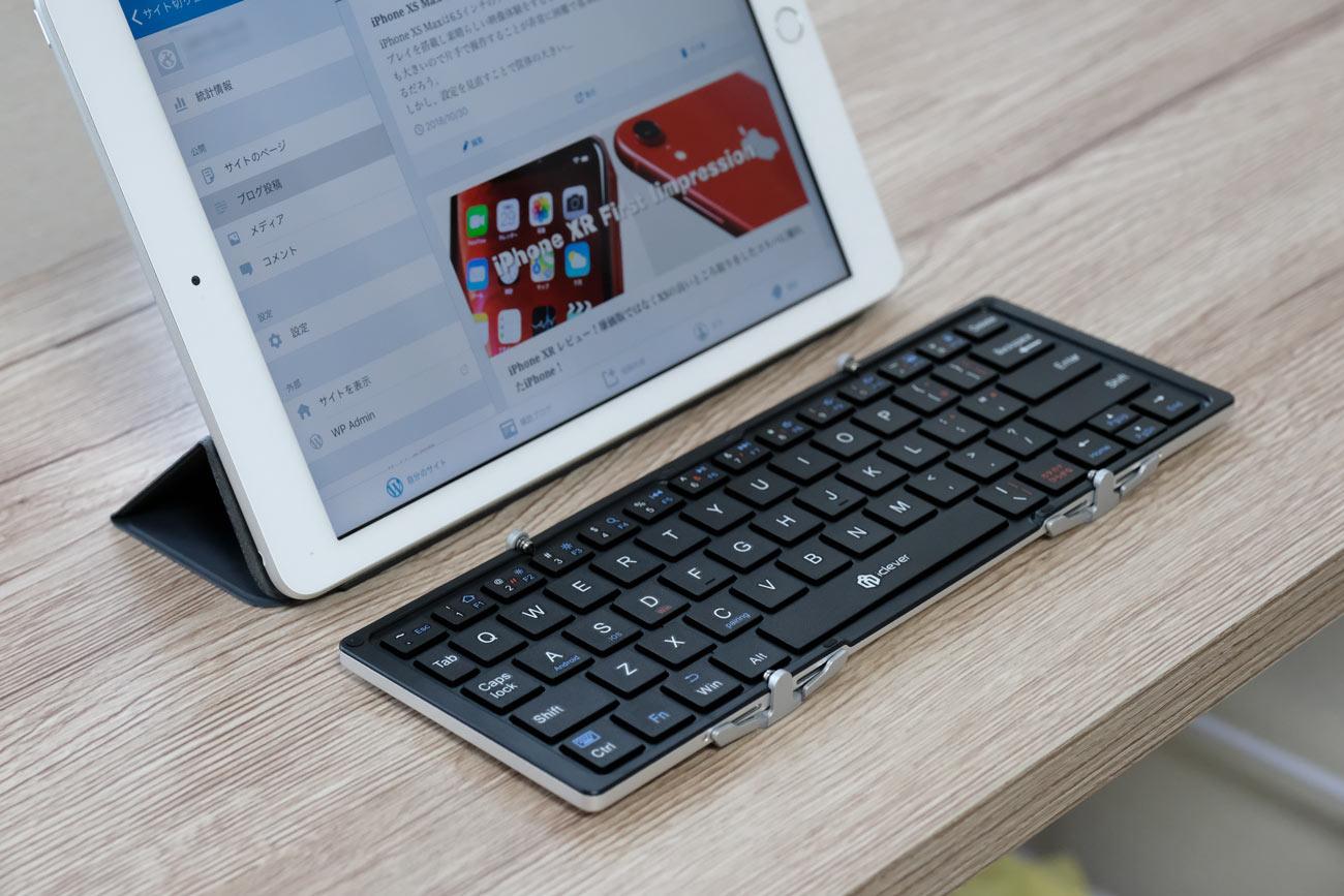 iClever IC-BK03とiPad(第6世代)