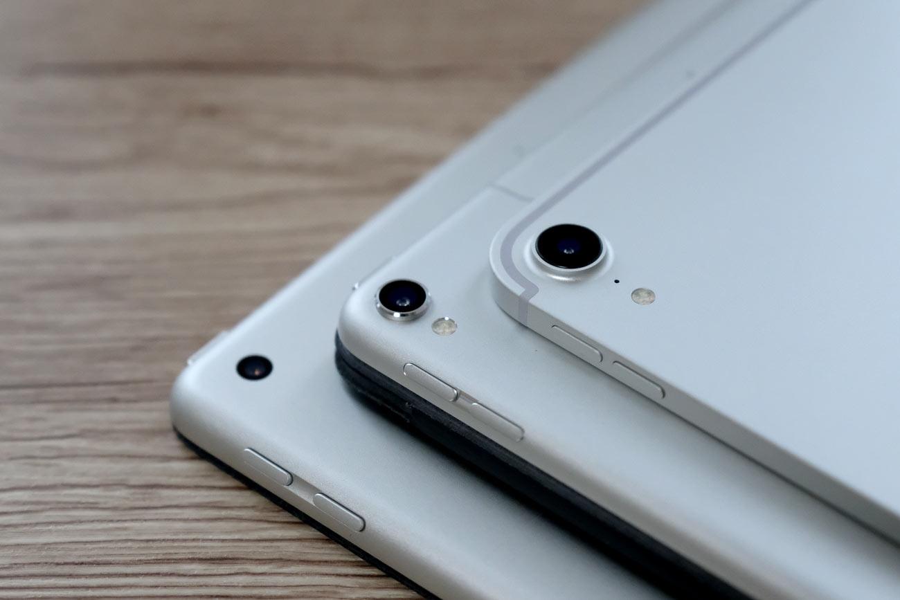 iPad ProとiPadのリアカメラ 外観の違い