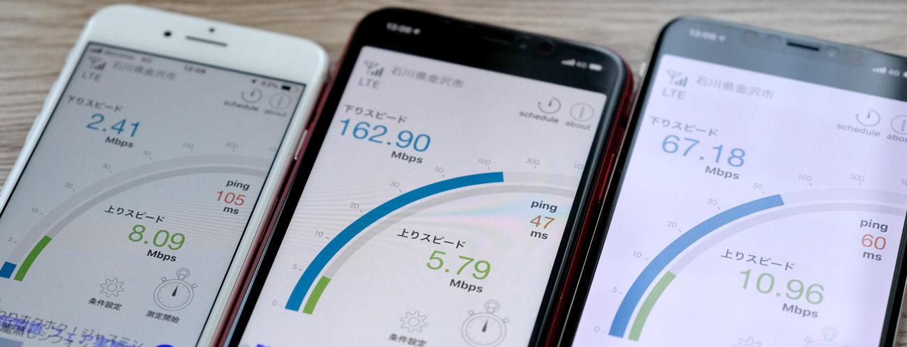 Y!mobile 通信速度の違い