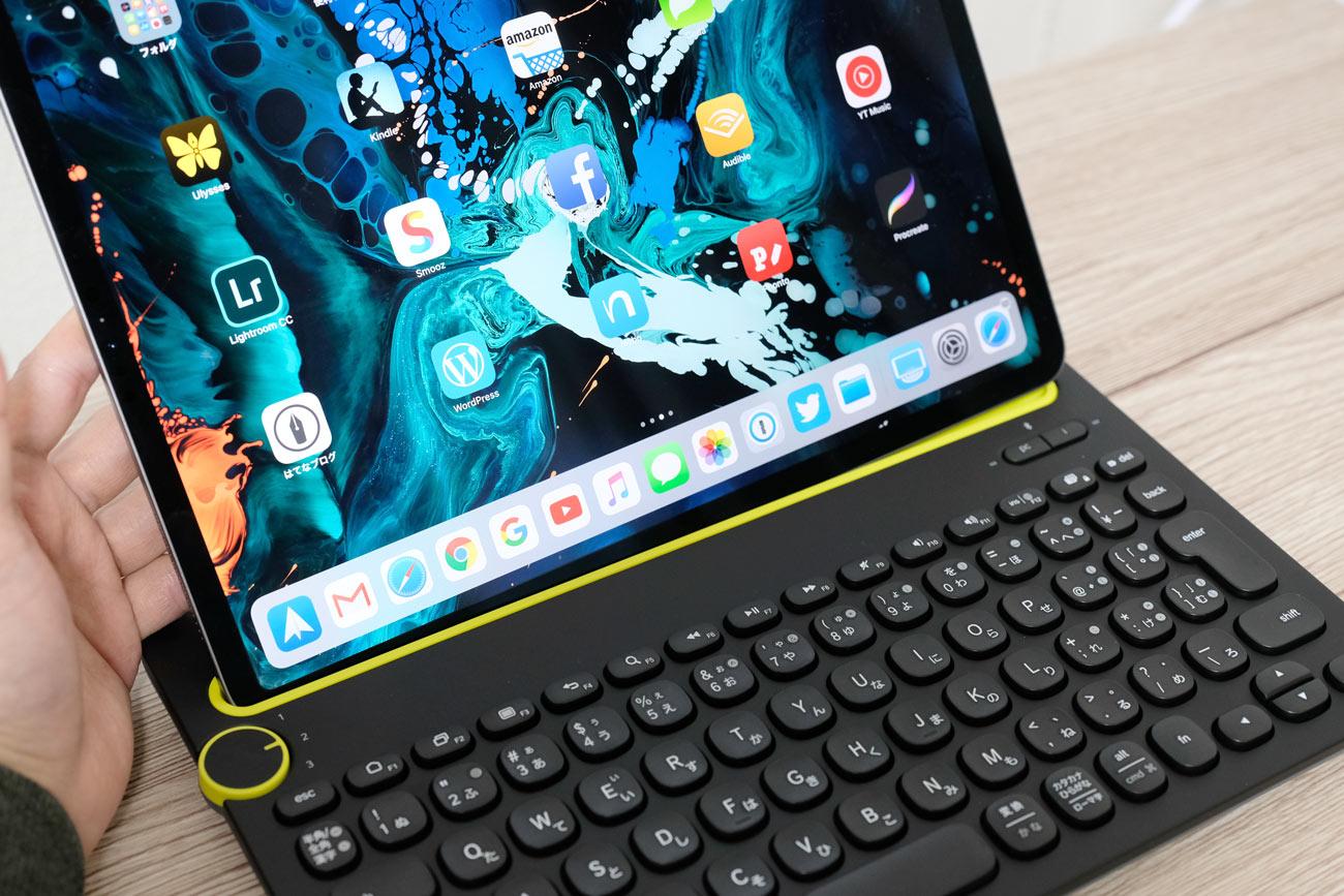 Logicool K480とiPad Pro 12.9インチモデル