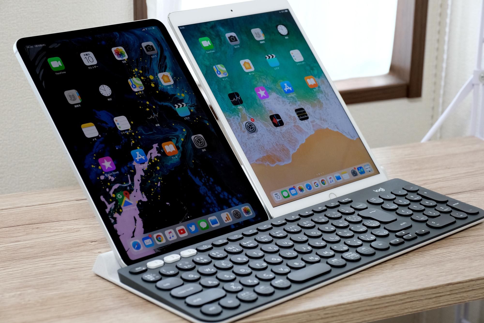 Logicool K780 iPad 2台縦置き